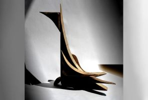 wooden bird gathering the sun light by creapicform