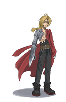 Character Sketch - Edward Elric by Ketsuzoku