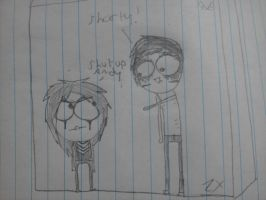 Andy and Jinxx drawing by XxTabbixX