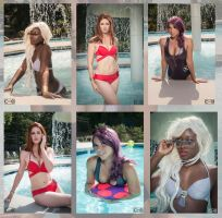 X Babes Pool side by moshunman