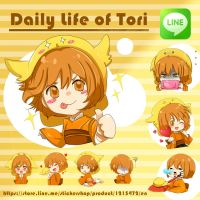 Sticker: Daily life of Tori by Toriichi