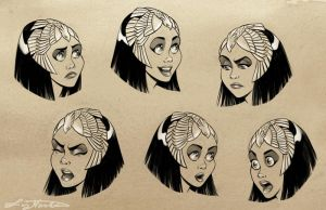 Cleo Expression Sheet by LizMasters
