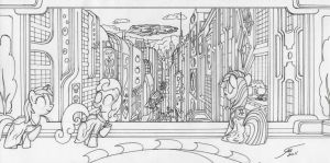 December Draw Off 4 Equestria 3032 Outline by Template93