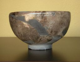 silver raku bowl by Wraith-Cat