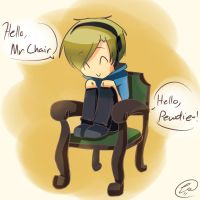 Chibi Pewdiepie and Mr. Chair by ChibiGuardianAngel