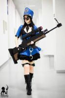 Officer Caitlyn on duty by MargaretCosplayArt