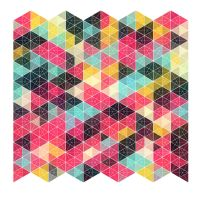 Graphic pattern study #4 - L-randomized triangles by Ankhe