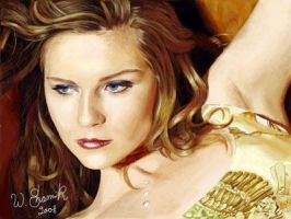 Kirsten dunst digital painting by WilliamsShamir