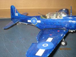 SBD Dauntless: Close-up by cloudyrainbow561
