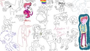 Tumblr Adventure Time sketchdump by angelleelee13