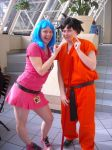 Bulma and Goku by lilsakura423