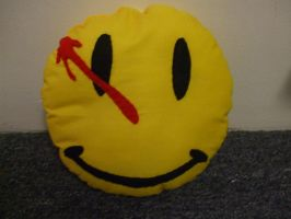The Comedian Smiley Pillow by alexiamorana