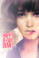 Happy B-Day Demi Lovato by CansuAkn