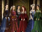 Queen Regnants of England by TLKFANKING