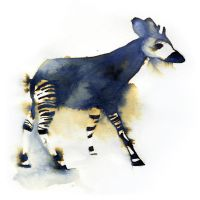InkAnimals - Okapi by Duffzilla