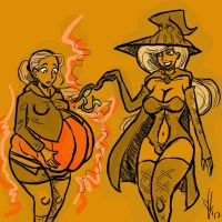 Pumpkin Witch by Dragon-Storm