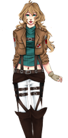 SnK OC: Alvona Lietzke by GlassesDog