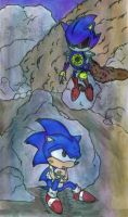 Colored: Fight With Metal Sonic by Gojira007