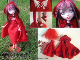 OOAK Monster High Repaint Little Red Riding Hood by Lassarina-Jewelry