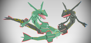 [MMD Download] X/Y Rayquaza by Supurreme