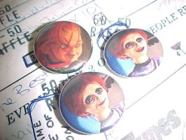 Seed of Chucky 1inch buttons by Abaddona