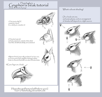Gryphon's beak_tutorial by Husky-Foxgryph