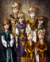 The Iudicael Family (Main Bloodline) by MoonstalkerWerewolf