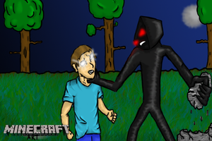 mc: Enderman Vs Herobrine by DoubleAct15