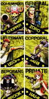 Straw Hats Military Ranks by AnnaHiwatari