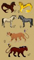 Animal adoptables by Mirri