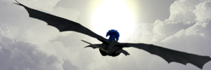 Sonic Flying Toothless by Xbox-DS-Gameboy