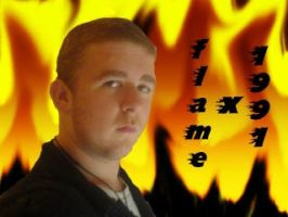 me inglufed in flames by flamex1991