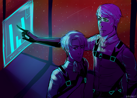 S P A C E - Erwin and Levi by kimuchii
