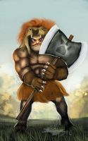 Game Character Illustration: Lionslayer by Brollonks