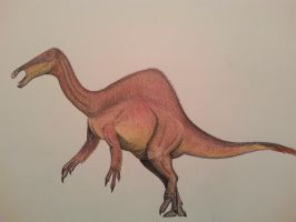 the new Deinocheirus by spinosaurus1