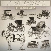 Carriage Clip Art Vintage Carriages by DigiWorkshopPixels