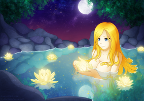 Commission: Scenic Bath by padfootlet