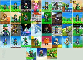Luigi ALL POWER UPS by Gregarlink10