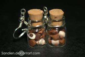 Miniature bonbons in bottles by Sandien