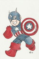 Captain America Commission by AmberStoneArt