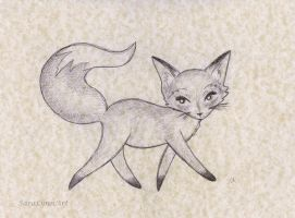 Fox Trot by SaraLynnArt
