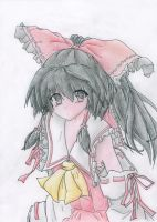 Reimu with color by Faymala