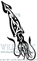 Tribal Squid Tattoo by WildSpiritWolf