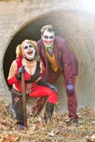 Joker and Harley Quinn - Halloween Shoot 2 by LukeStrife5
