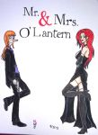 Mr  Mrs O' Lantern by missnene1