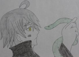 Snake and his snake by Sweetgirl333