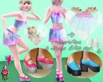 Pack SkirtMini y Shoes AMO ver by RainboWxMikA