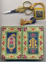 Needle Book w Scissors Fob by Isiscat777