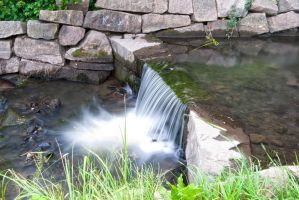Creek and Small Waterfall by s-ense