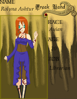 Freak Land App: Rolyna Ashtur by animecat26
